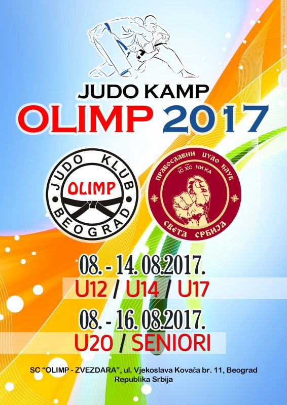 "Judo kamp ""OLIMP 2017"" od 08. do 16. avgusta 2017.g."